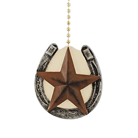 Horseshoe with barn texas star primitive design ceiling fan pull horseshoe with barn texas star primitive design ceiling fan pull aloadofball Image collections