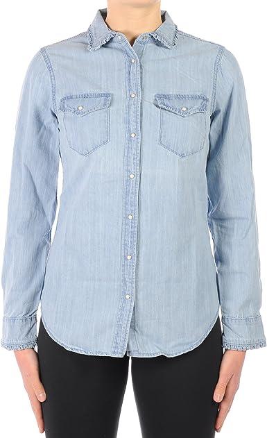 Silvian Heach - Camisas - para mujer Azul Jeans XX-Small: Amazon.es: Ropa y accesorios
