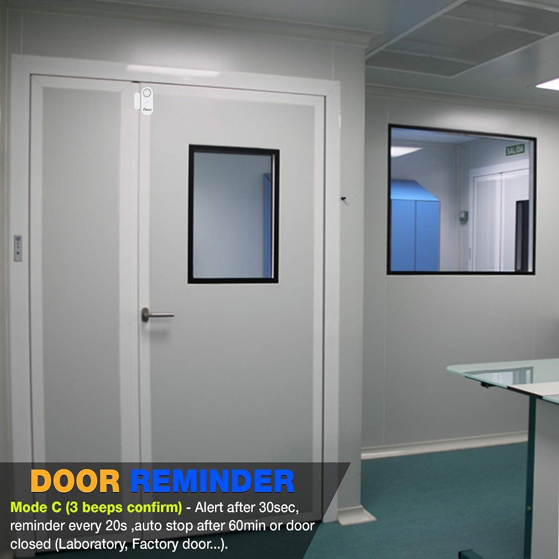 60s. Kids Door Alert 0s 3in1 Door Alarm with Delay 5s,10s Entry Chime Closing Reminder 30s