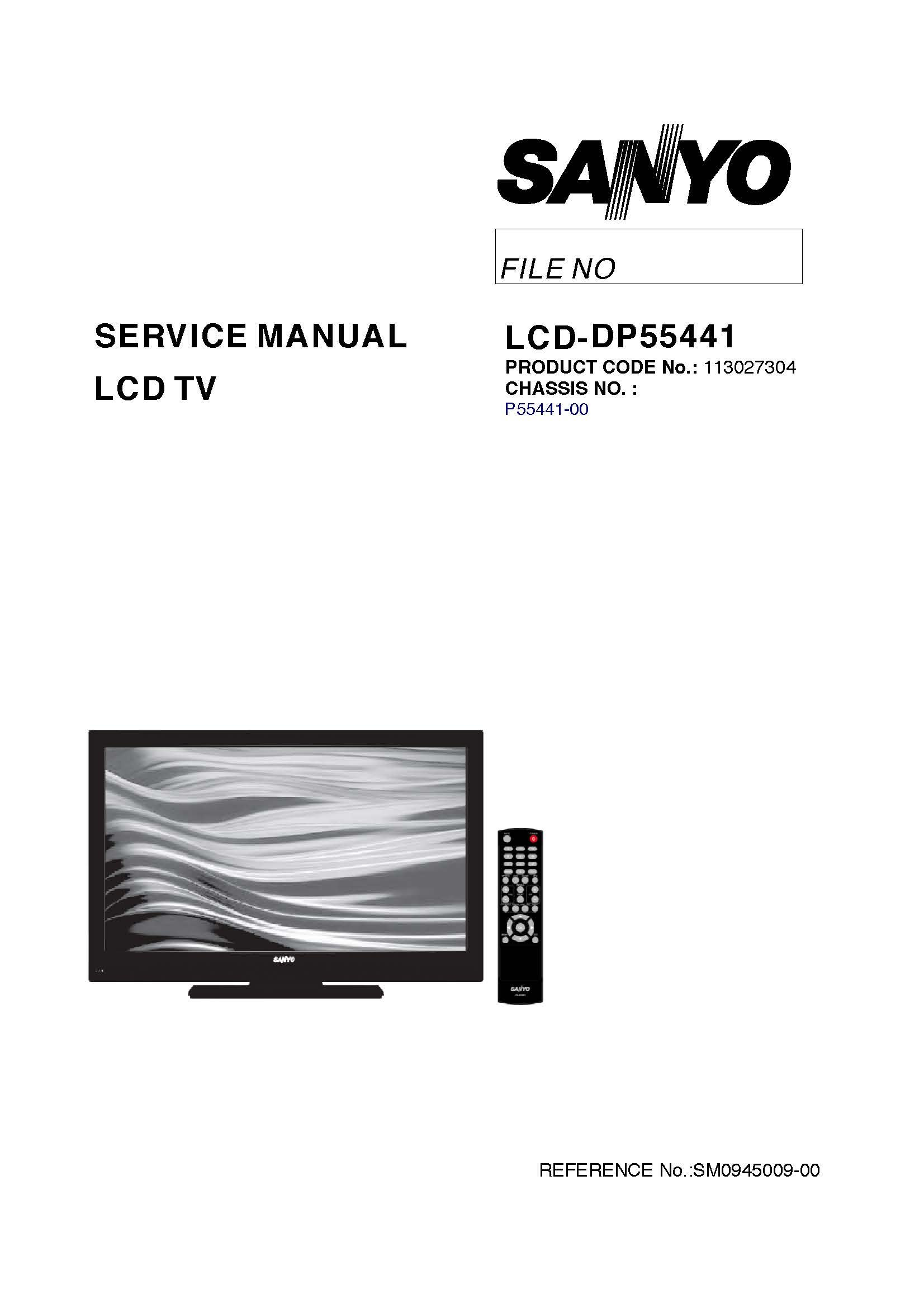 sanyo dp55441 service manual with schematics sanyo 0912345554417 rh amazon com DP55441 Parts Sanyo TV Replacement Stand