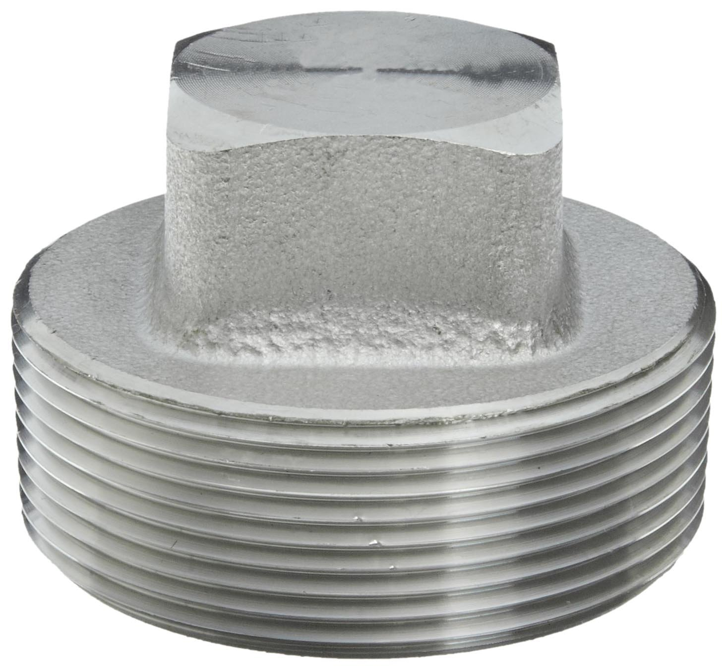 Class 3000 304//304L Forged Stainless Steel Pipe Fitting Plug 1//8 NPT Male 1//8 NPT Male Merit Brass 3417DA-02