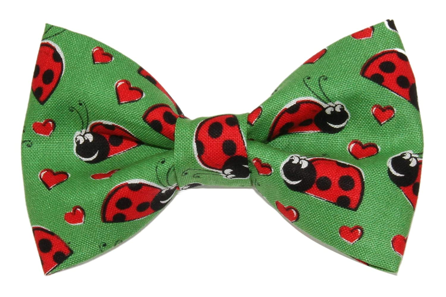 Boys Ladybugs and Hearts Clip On Cotton Bow Tie Bowtie by amy2004marie