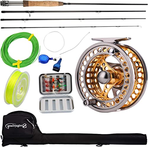 Sougayilang Fly Fishing Rod Reel Combo