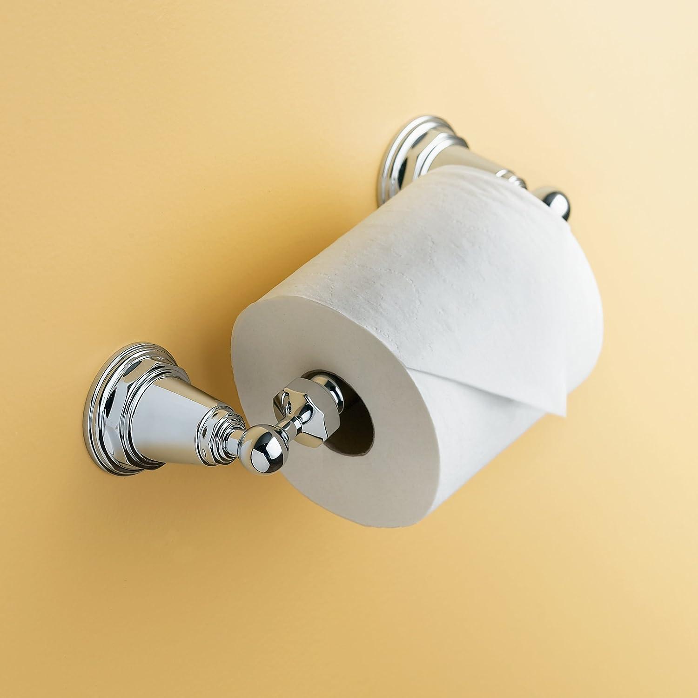 KOHLER K-13114-CP Pinstripe Toilet Tissue Holder, Polished Chrome ...