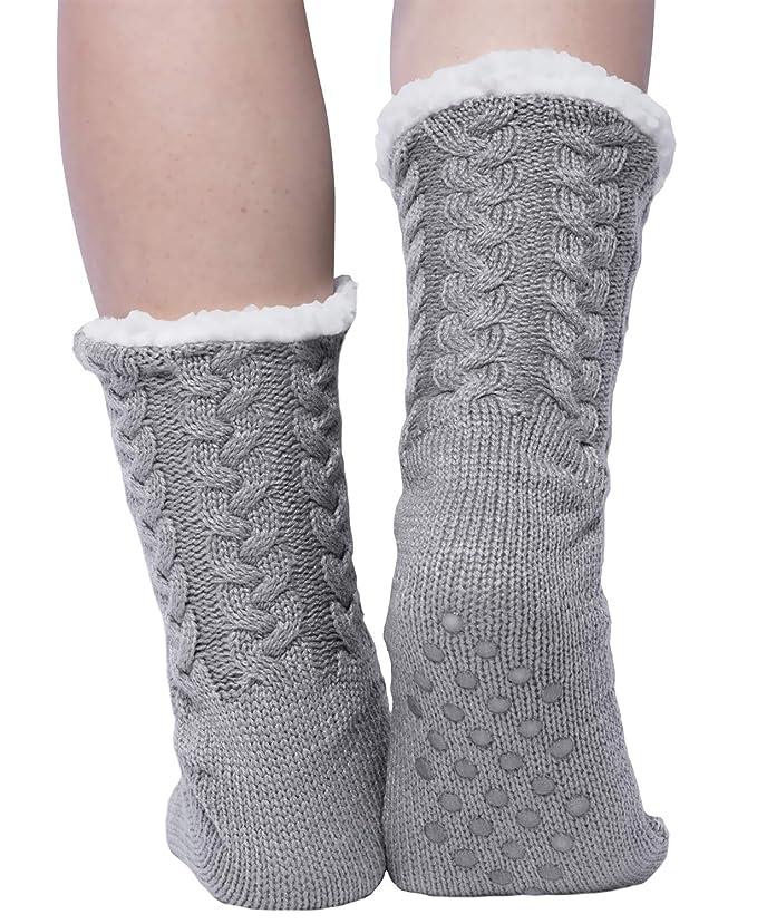 Chalier Calcetines de punto de mujer y calcetines de lana cálidos y cómodos 1 par de invierno: Amazon.es: Ropa y accesorios