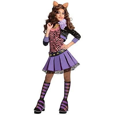 Monster High Deluxe Clawdeen Wolf Costume - Medium: Toys & Games