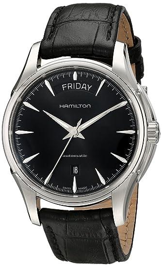 Hamilton Jazzmaster día fecha negro Dial H32505731 reloj para hombres de [Regular importados]: Amazon.es: Relojes