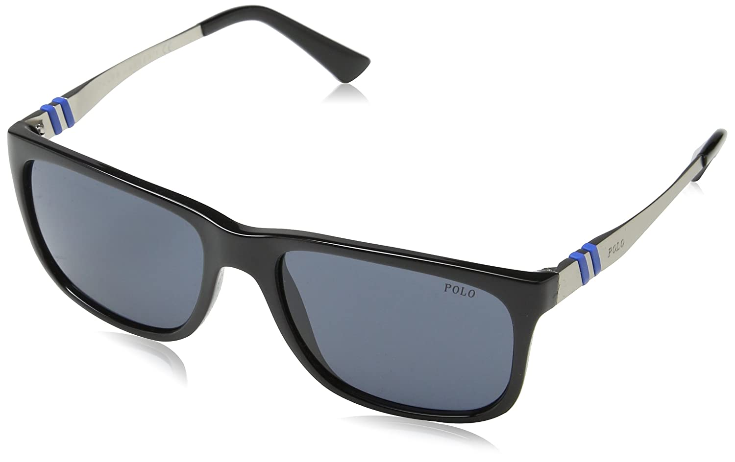 2a0cde17dd0e Amazon.com: Polo Ralph Lauren PH4088 500187 Black/Silver PH4088 Wayfarer  Sunglasses Lens: Shoes