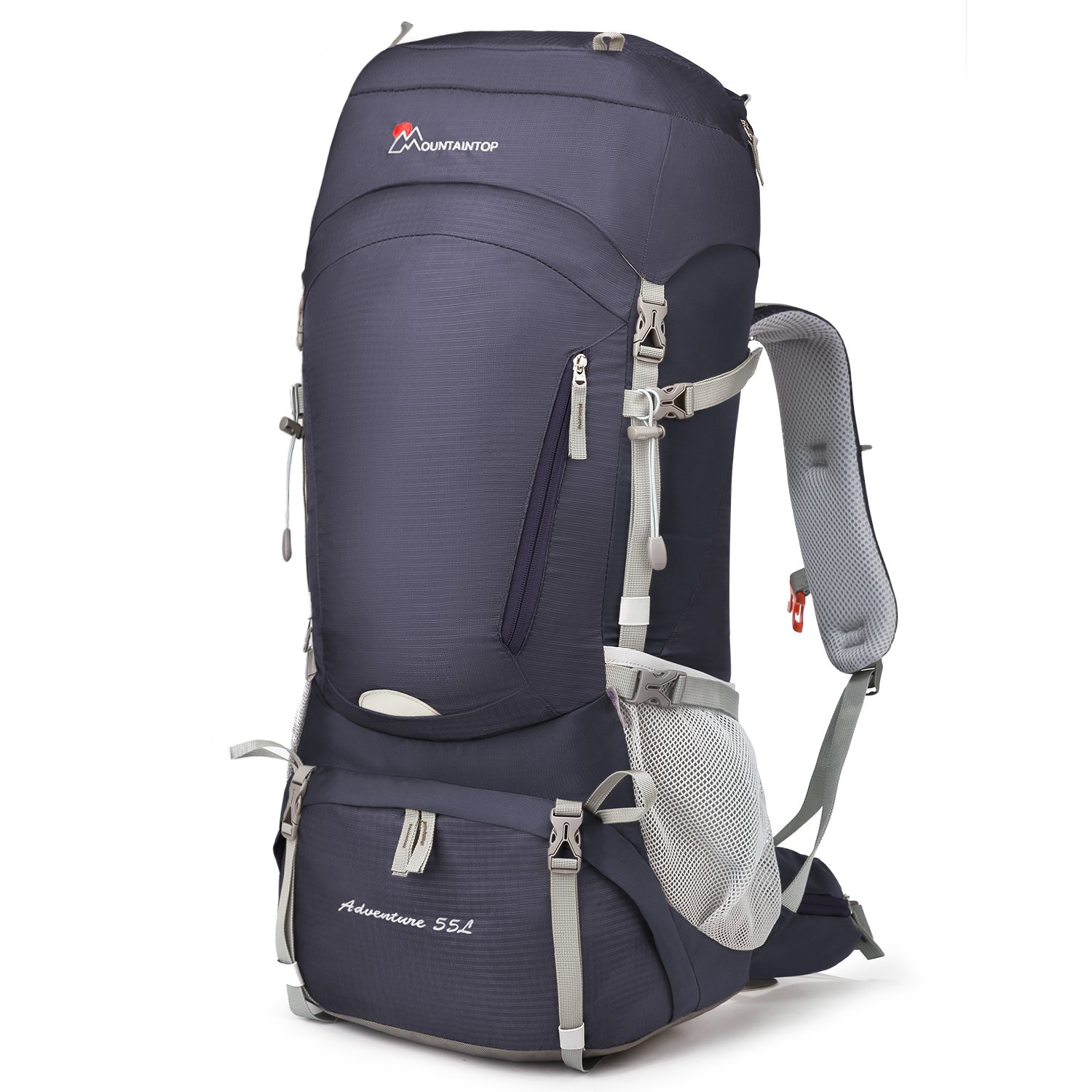 Mountaintop 50L/55L Hiking Backpack with Rain Cover by MOUNTAINTOP