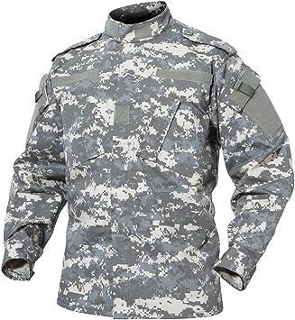 TACVASEN Militar Hombres Ejército Camisa Camo Uniforme Táctico Caza Chaqueta: Amazon.es: Deportes y aire libre