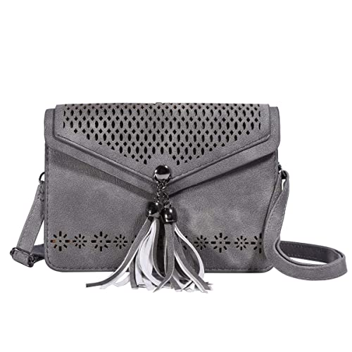 83d23d2612 Women Small Crossbody Bag - Cell Phone Purse Smartphone Wallet Bags (225-  grey with
