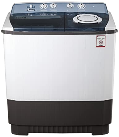 LG 9.0 kg Semi-Automatic Top Loading Washing Machine (P1064R3SA, Dark Gray)