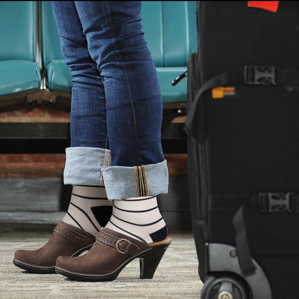 HLTPRO Compression Socks for Women & Men - 1 to 6 Pairs 20-30 mmHg Compression Stockings for Travel, Running, Pregnancy, Nurse by HLTPRO (Image #5)