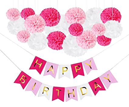 DIY Pink Birthday Party Decorations