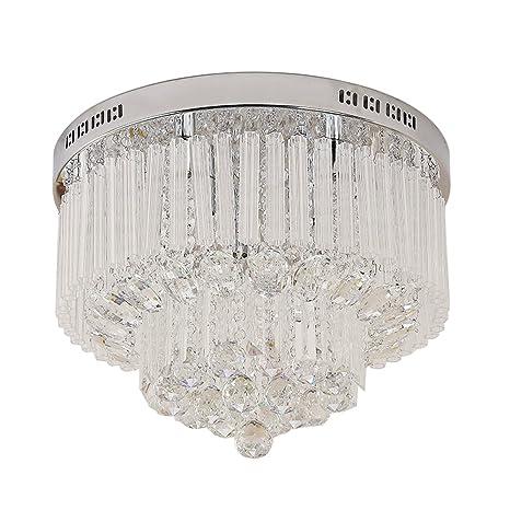 Glighone Lámpara Colgante Cristal 9*G9 LED 25W Lámpara de ...