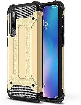 RFly Funda para Xiaomi Mi 9 SE, con Absorción de Choque Resistente Doble Capa Rugged Armor Funda, para Xiaomi Mi 9 SE Smartphone, Oro: Amazon.es: Electrónica