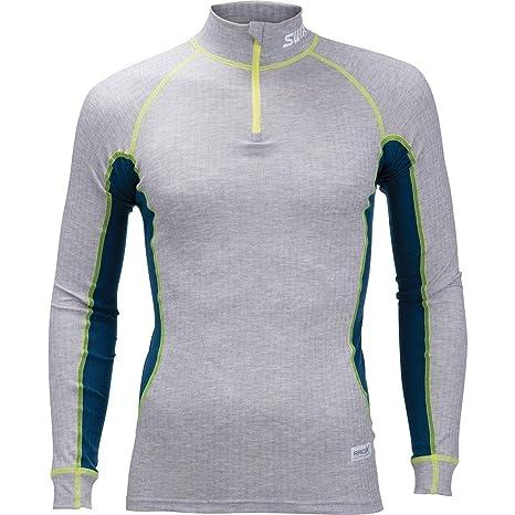fe7bc1c2 Amazon.com: Swix Race X Bodywear 1/2-Zip Top - Men's Grey Melange ...