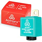 Autofy Universal Highway Indicator Flasher for LED Indicators Fog Lights - Hazard Indicator Blinker Module for All Bikes & Cars (10 Patterns)