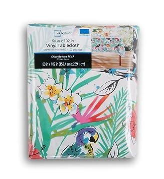 Superieur Summer Tropical Toucans Vinyl Tablecloth (60 X 102)