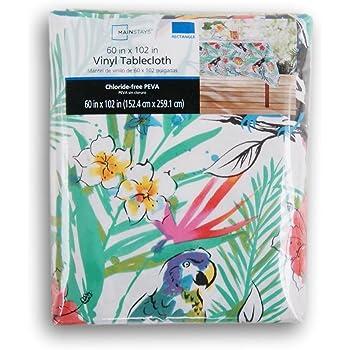 Amazon Com Elegant Fern Vinyl Tablecloth 52x90 Oblong