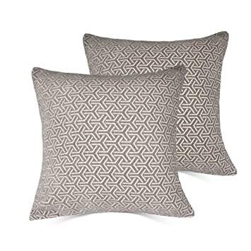 amazon co jp gray set of 2 throw pillow covers coastal