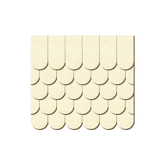 Biberschwanz Schindelgr/ö/ße:80mm x 40mm Pack mit:1000 St/ück Sperrholz Schindeln halbrund Gr/ö/ßen- und Mengenauswahl