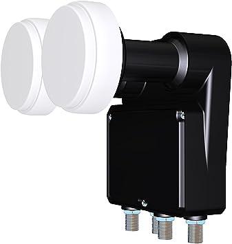 Inverto Monoblock - LNB par antena parabólica con 4 salidas (0,2 dB, 23 mm) [Importado de Alemania]