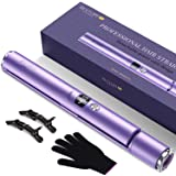 BESTOPE Hair Straightener and Curler 2 in 1 Flat Iron for Hair with Detachable Power Cord Tourmaline Ceramic Hair Straightene