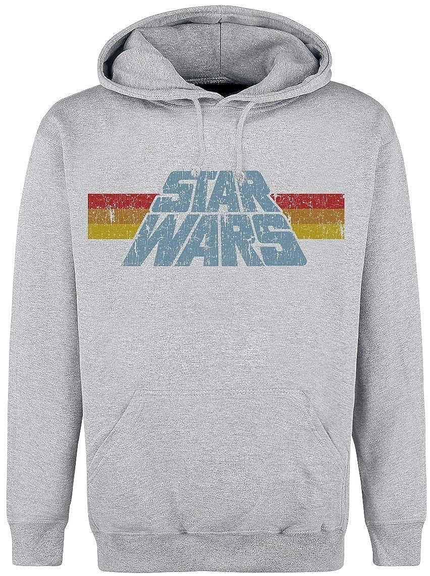 Star Wars Vintage Logo Kapuzenpullover grau meliert