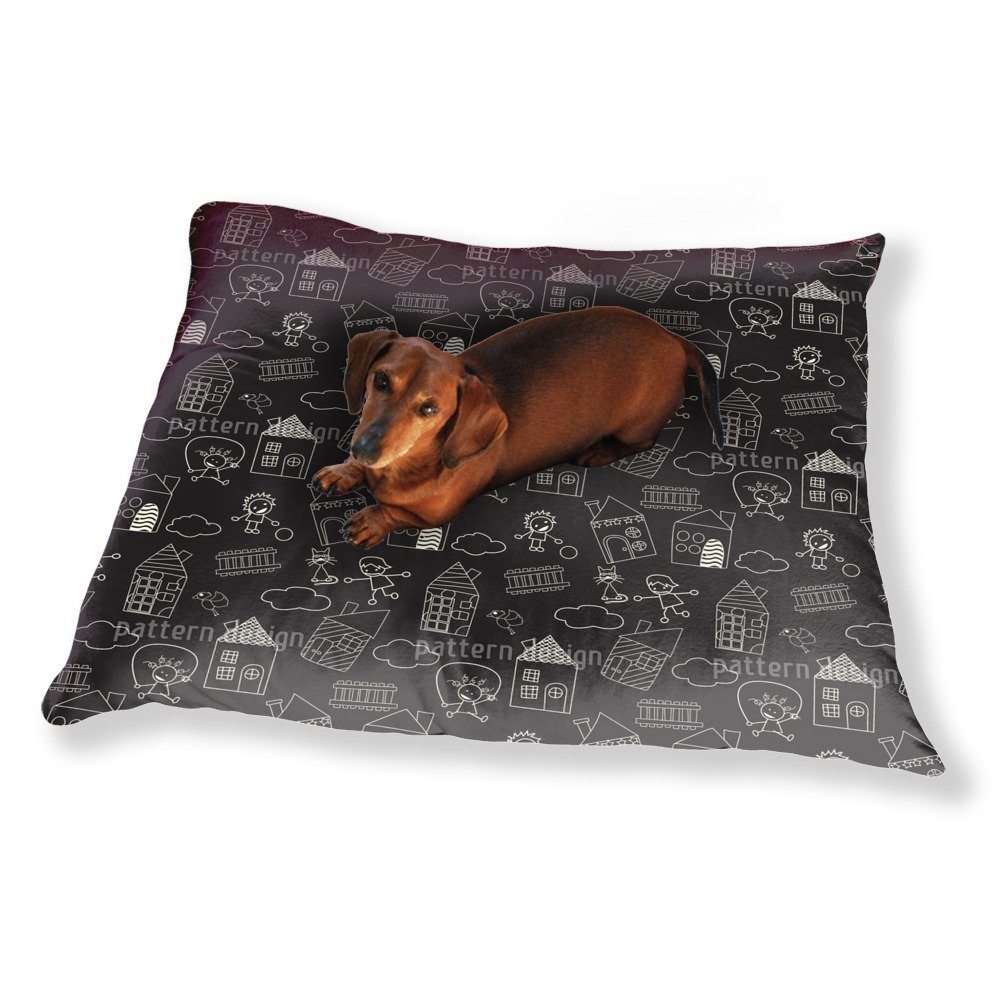 Leisure Fun With Chalks Dog Pillow Luxury Dog / Cat Pet Bed