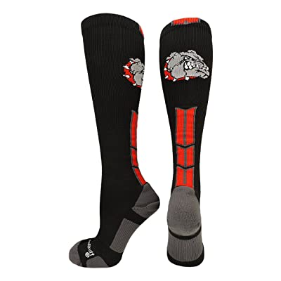 MadSportsStuff Bulldog Logo Over the Calf Socks