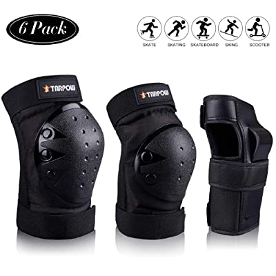 STARPOW Knee Pads for Kids/Adult Elbows Pads Wrist Guards 3 in 1 Protective Gear Set for Skateboarding, Roller Skating, Rollerblading, Snowboarding, Cycling(S/M/L) : Sports & Outdoors