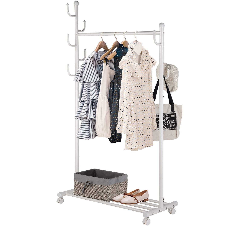 Coat Stand Garment Rack Metal Clothes Jacket Scarfs Hats Hanger Rack Tree NEW