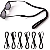 KOZR Glasses Holder, 6 Pcs Controllable Black Eyeglass Chain for Sunglass and Eyeglass,Glasses Strap Suitable for Men…