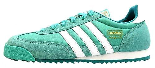 adidas Dragon W - Zapatillas de piel regenerada para mujer verde verde, color verde, talla 37.5: Amazon.es: Zapatos y complementos