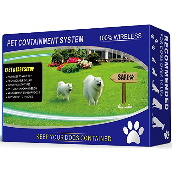 1 Dog Wireless Pet Containment System - Rechargeable and Waterproof Collar