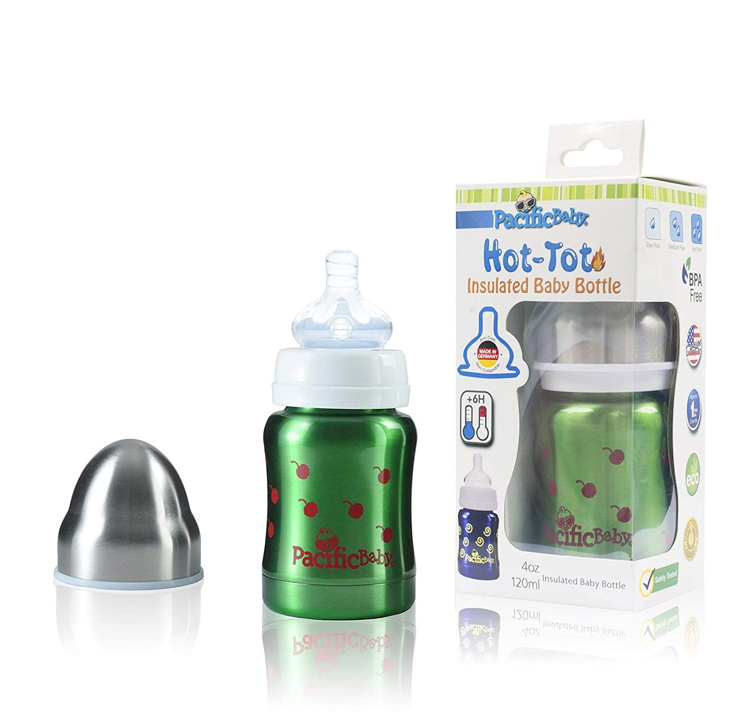 Amazon.com: Pacific Baby hot-tot Insulated Acero Inoxidable ...