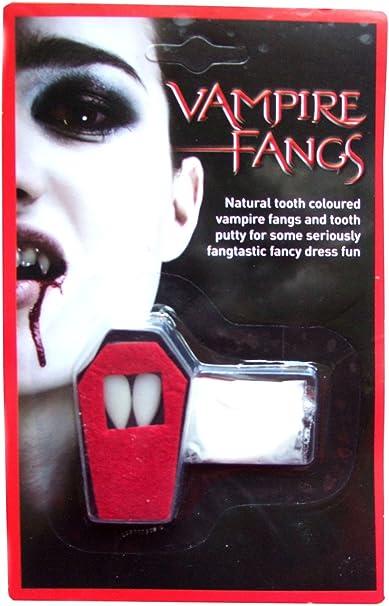 Light Up Vampire Teeth Gothic Dracula Halloween Fancy Dress Accessory