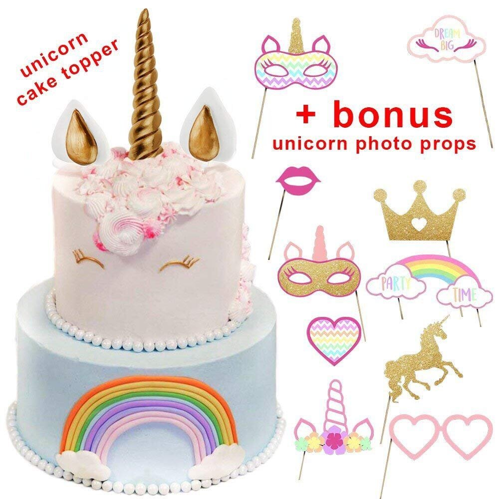 Best Party Unicorn Cake Toppers Horn Topper Cake Birthday Unicorn Party Cake Toppers for Girls by Best Party