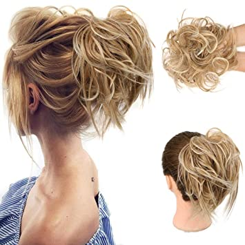 Amazon.com : HMD Tousled Updo Messy Bun Hair Piece Hair Extension Ponytail  With Elastic Rubber Band Updo Extensions Hairpiece Synthetic Hair  Extensions Scrunchies Ponytail Hairpiece for Women : Beauty