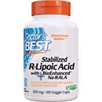 Doctor's Best Stabilized R-Lipoic Acid with BioEnhanced Na-RALA, Non-GMO, Gluten Free, Vegan, Helps Maintain Blood Sugar…