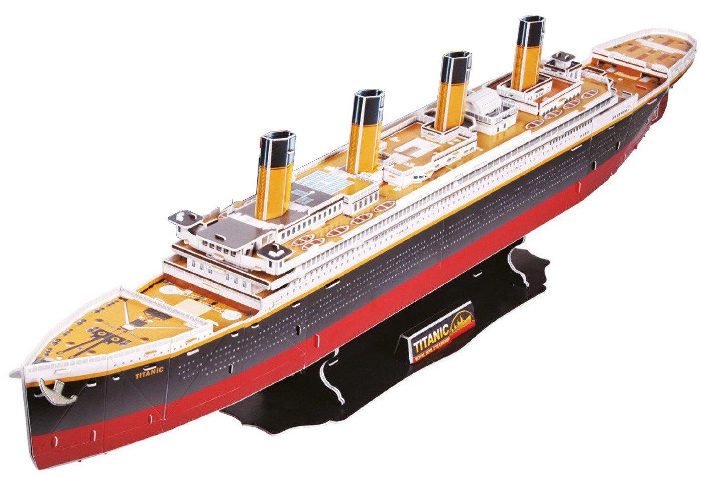 Top Race Titanic 3D Puzzle 32 long - Easy to Assemble No Glue, No Scissors. (113 Pieces)