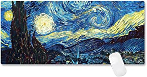 CENNBIE Durable XXL Size Mouse Pad Large Starry Night Game/Office/Home/Desk Mouse Pad/Keyboard Mat Anti-Slip for Laptops Computers Ultrabook 35.4 x 15.5in (Edge Stitched)