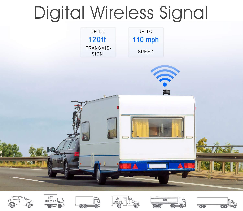 ZEROXCLUB Digital Wireless Backup Camera System Kit,HD1080P Wireless Reverse Rear Side View Camera,No Interference,IP69 Waterproof 9/'/' LCD Wireless Monitor for RV//Truck//Trailer//Bus//Pickup//Van-W904