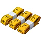 SumVibe Soft Tape Measure 120 Inches/300cm, Pocket Measuring Tape for Sewing Tailor Cloth Body Measurement, Yellow 3…