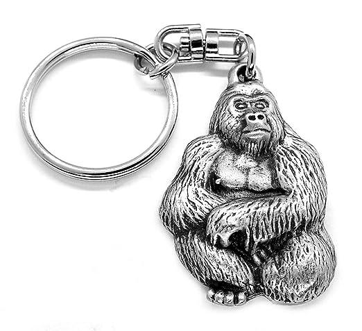 Artisan Pewter Llavero de Peltre Gorila con Bolsa de Regalo ...