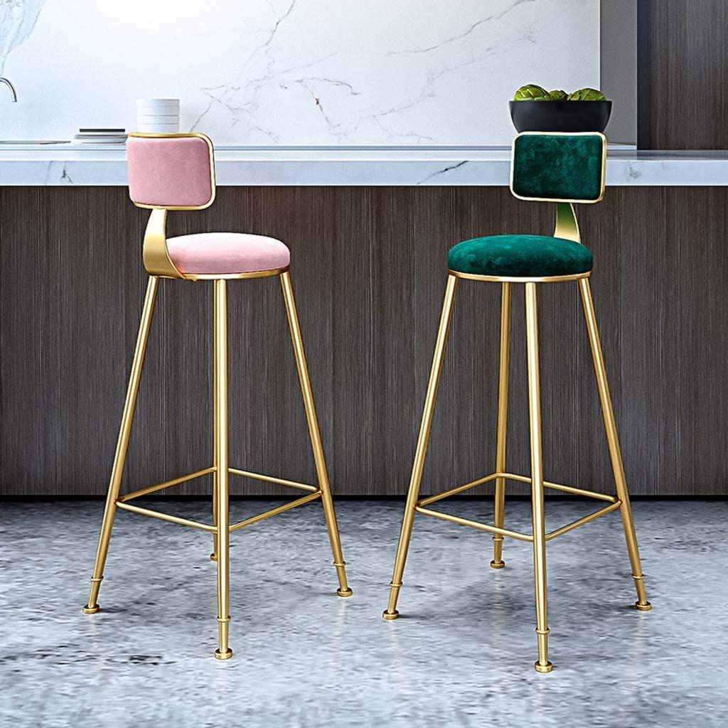 Qqjbd 39 3 Metal Counter Stool Height Bar Stools With Four Leg Back For Indoor Outdoor Barstools Color Black Amazon Co Uk Kitchen Home