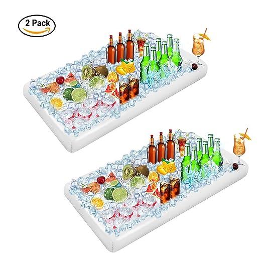 Youdgee - Bandeja hinchable para servir ensalada, hielo, buffet ...