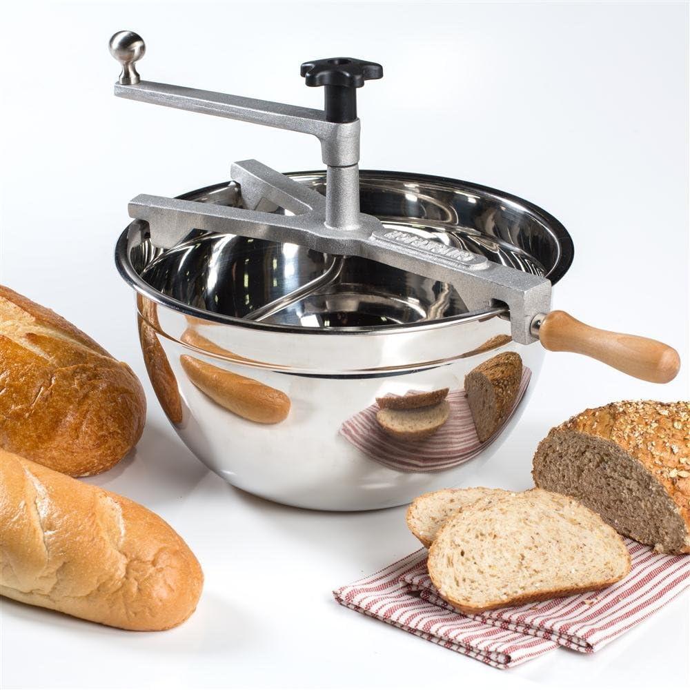 Hand-Cranked Bread Dough Mixer