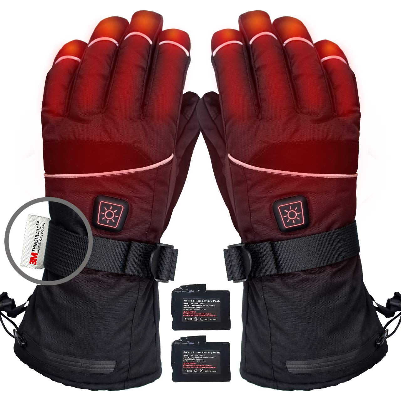 CREATRILL Heated Gloves w/Rechargeable 7.4V Batteries for Men and Women Cycling Motorcycle Hiking Skiing Hunting Fishing, Winter Hand Warmer Relief Arthritis Reynaud's by CREATRILL